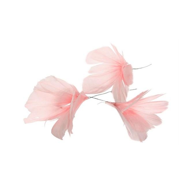 Fjäder blomma rosa 12pack