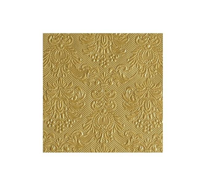 Kaffeservett elegant guld, 15-pack