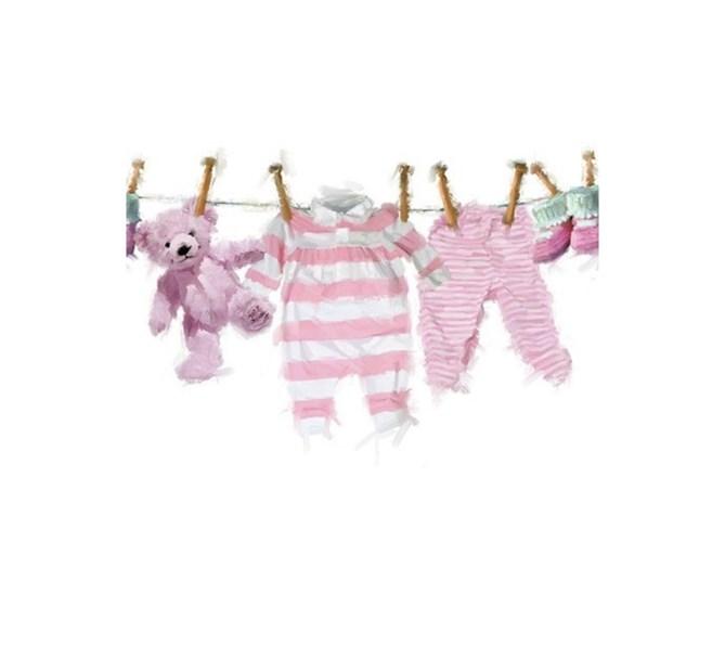 Servett Babykläder Rosa, 20-pack