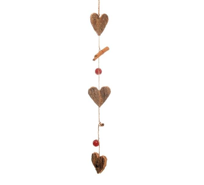 Girlang näverhjärtan & kanelstänger , 50 cm