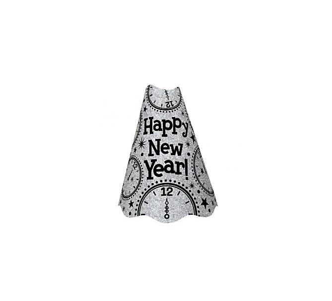Partyhatt Happy new year Silver