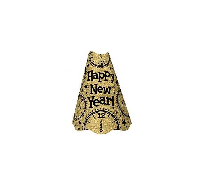 Partyhatt Happy new year Guld