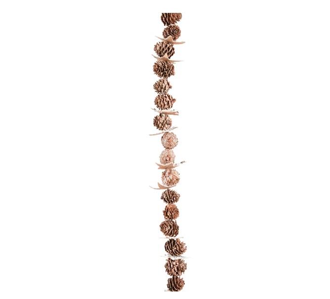 Girlang av kottar och näver, 180 cm