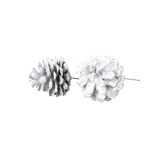 Kottar vit på ståltråd 6-7 cm, 5-pack