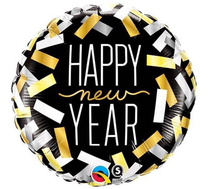 Ballong Konfetti Happy New Year