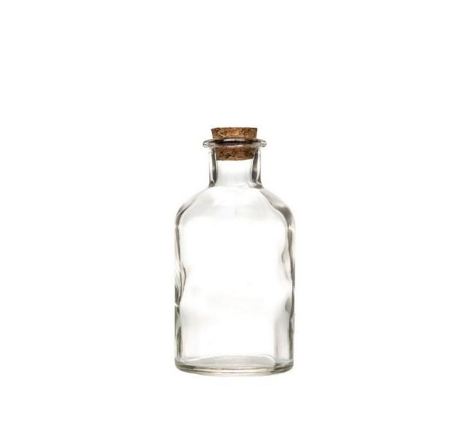 Glasflaska med korklock