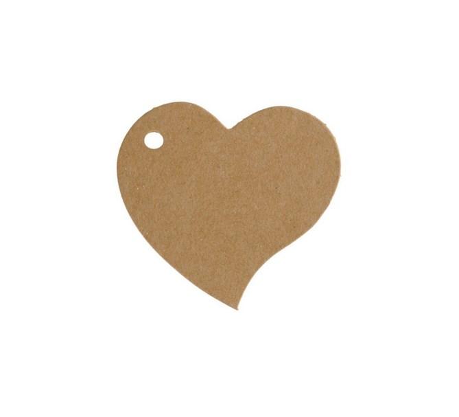 Placeringskort Hjärta natur, 10 st