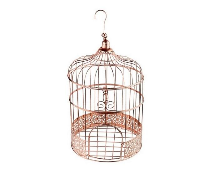 Fågelbur/kortlåda rosé