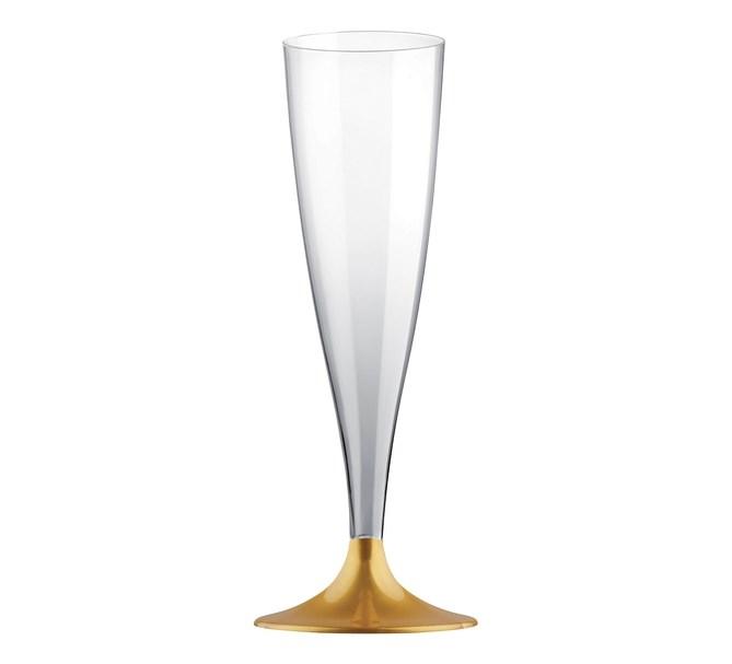 Champagneglas guld, 10-pack