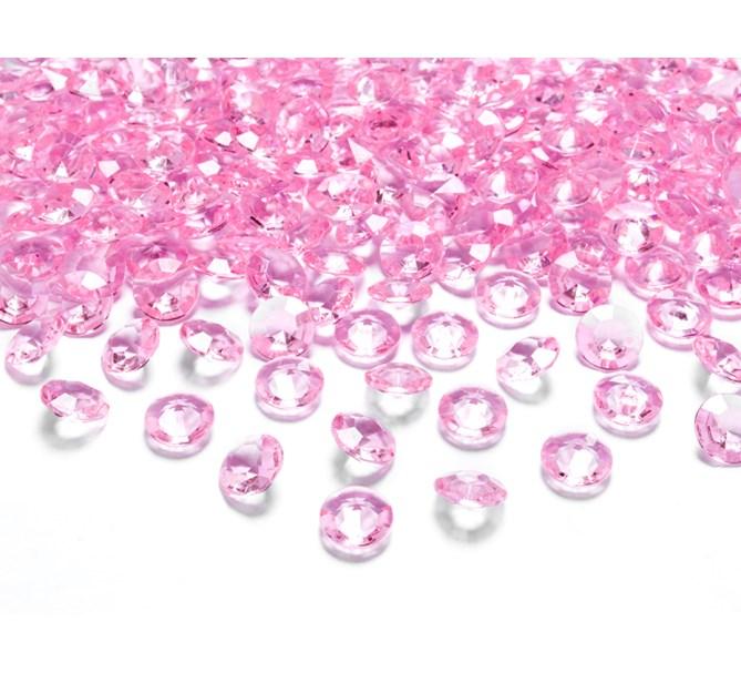 Diamantkonfetti ljus rosa