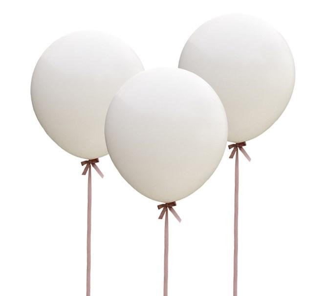 Jätteballonger vita 3-pack