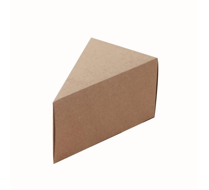 Presentask tårtbit rustik/natur, 10-pack