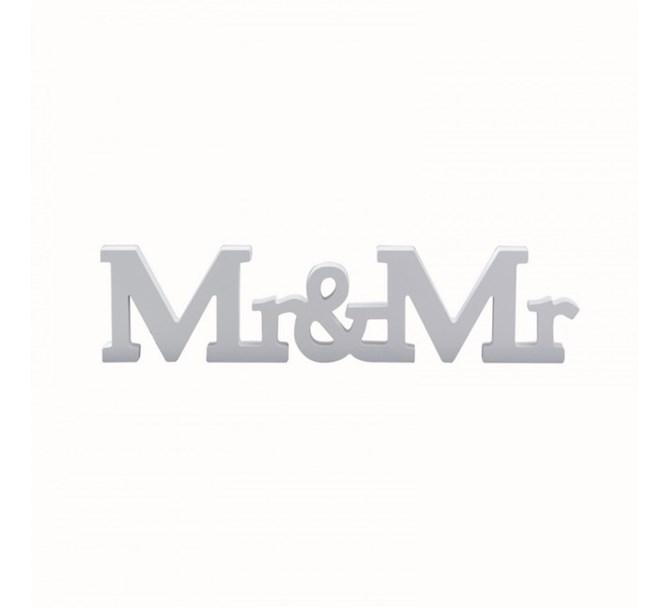 """Bokstäver """"Mr & Mr"""" (herrar)"""