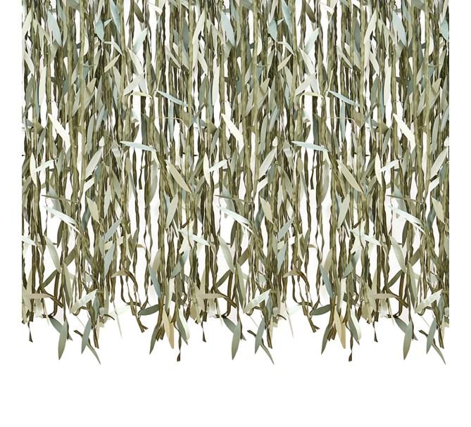 Botanisk löv girlang/draperi, 100 m.