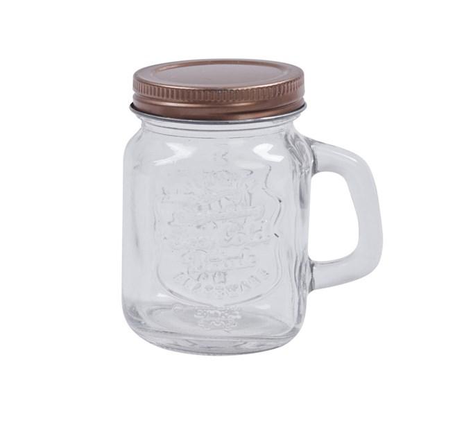 Miniglasbruk med lock 4 st .