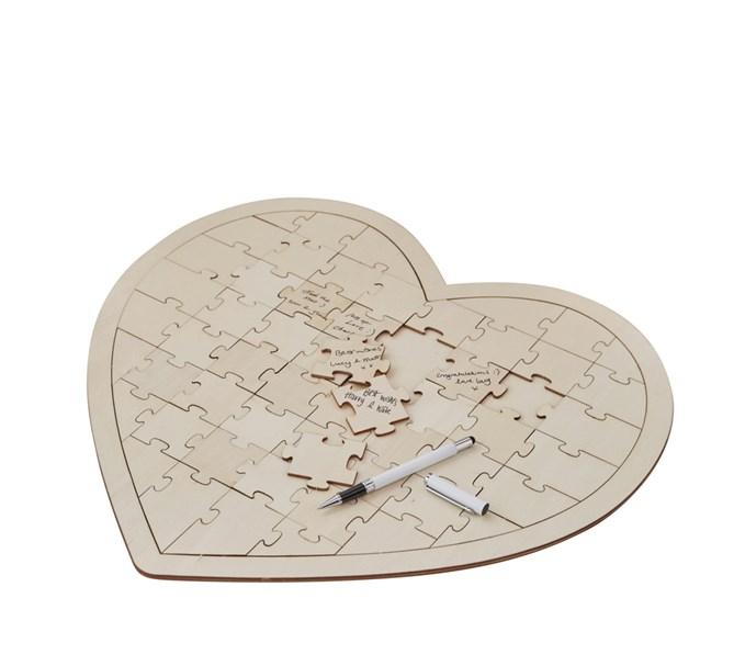 Gästbok hjärtpussel