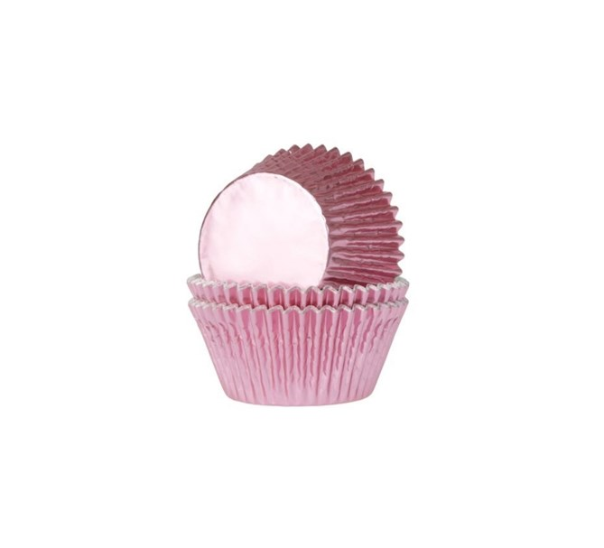 Muffinsformar rosa metallic, 24-pack