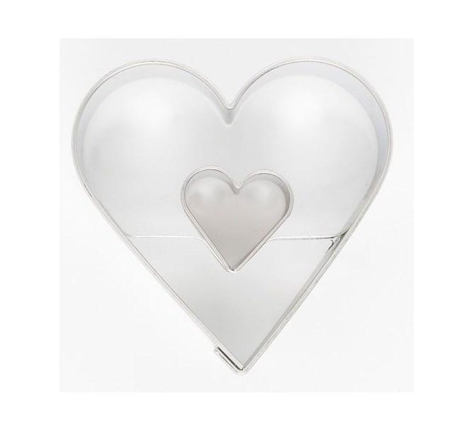 Kakform hjärta i hjärta