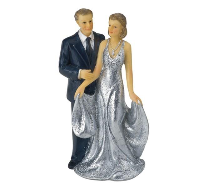 Tårtdekoration Silverbröllop