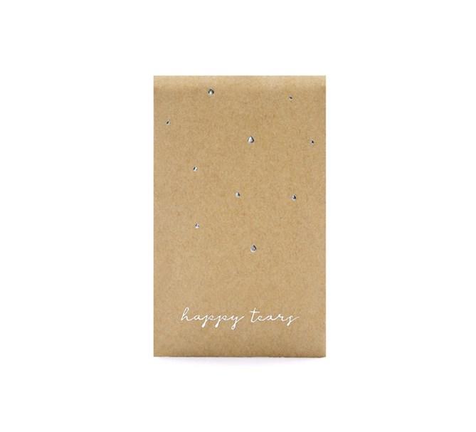 "Näsdukar ""Happy Tears"" natur/silver, 10-pack"