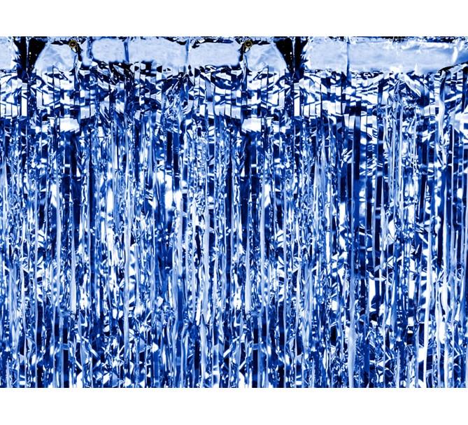 Dörrdraperi Blå