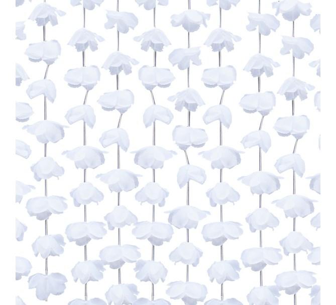 Draperi blommor vit