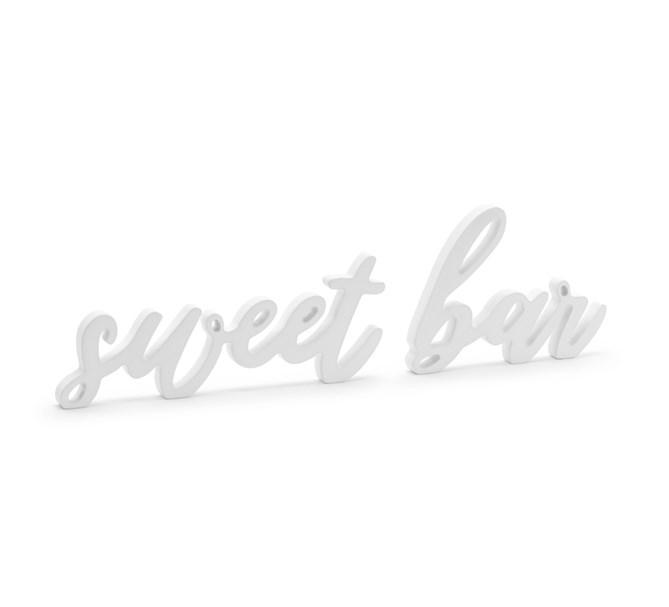 Skylt Sweet bar trä