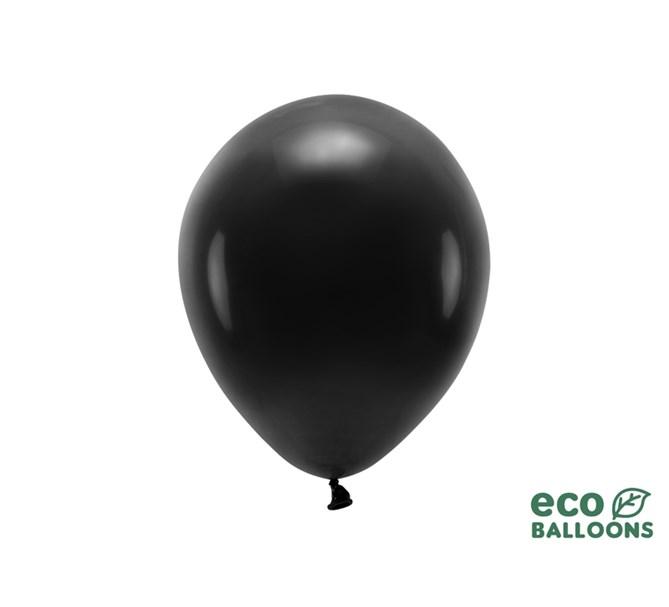 Eko ballonger svarta 26 cm, 10 st.
