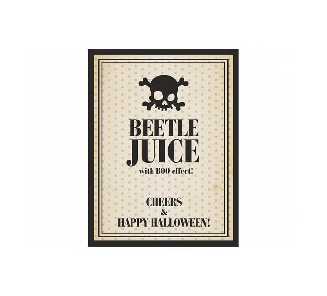 Flasketikett Halloween, 10-pack