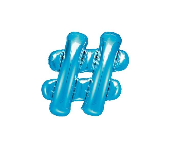 Folieballong # blå