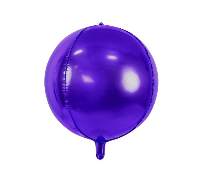 Folieballong lila rund
