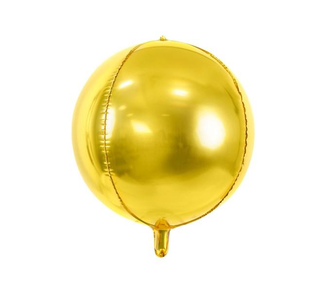 Folieballong guld rund