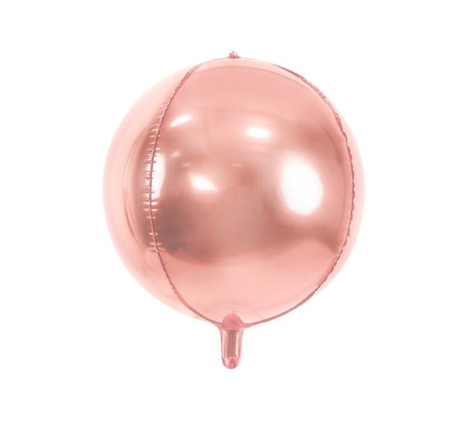 Folieballong rund roséguld