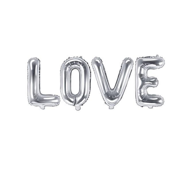 """Ballong """"LOVE"""" SIlver"""