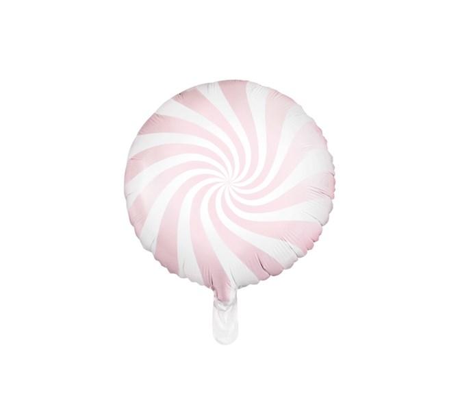 Folieballong godis rosa