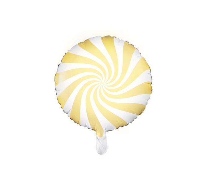 Folieballong godis gul