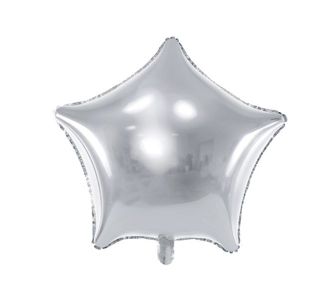 Folieballong Silver Stjärna