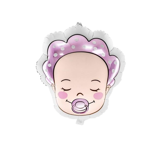 Ballong Baby flicka rosa