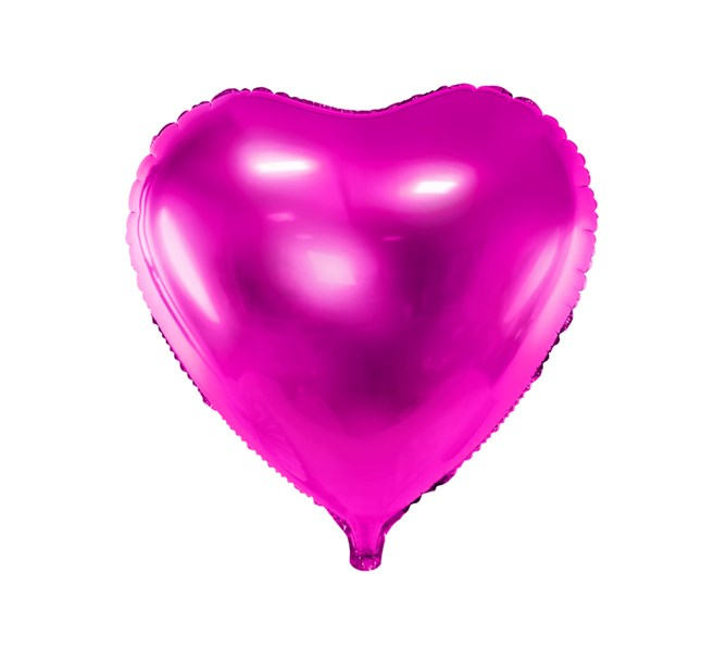 Folieballong hjärta Cerise