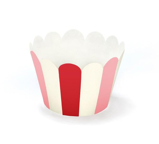 Muffinsformar röd/rosa/vit, 6-pack