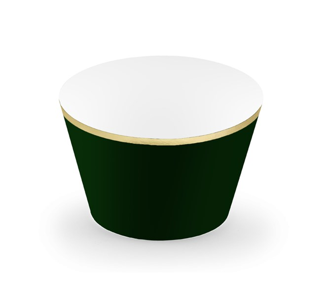 Muffinsform mörkgrön/guld, 6-pack