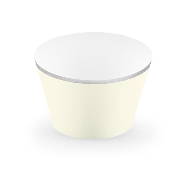 Muffinsform krämvit/silver, 6-pack