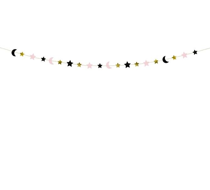 Girlang stjärnor och måne