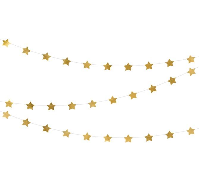 Girlang guld stjärnor