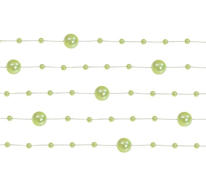 Pärlgirlang Ljusgrön