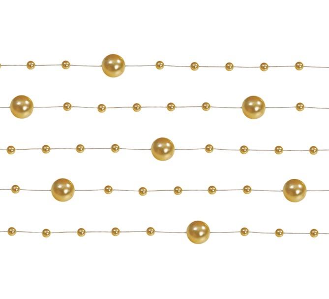 Pärlgirlang Guld