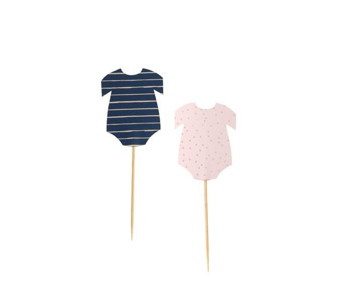 Cupcake Toppers Baby Shower, 12-pack