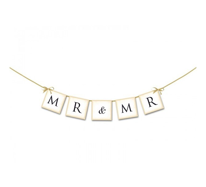 "Banner Bröllop ""Mr & Mr"" (Killar)"