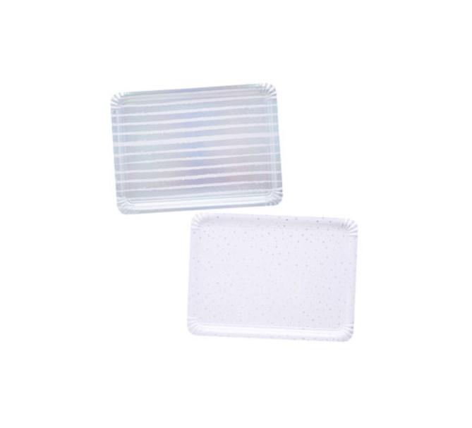 Serveringsfat silver, 4-pack