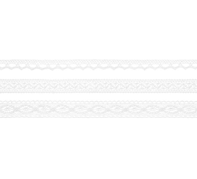 Spetsband 3-pack vitt